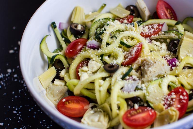 Zucchini Salad Recipe   Mediterranean - Kitchen of Eatin'
